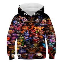 Five Nights At Freddys 3D Hoodies FNAF Children Pullover Hoodie Sweatshirt for Kids Boys Winter Autumn Jacket Coat Clothes