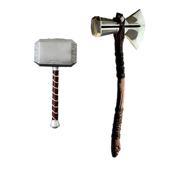 73cm Thor Hammer Ax Cosplay 1: 1 Thor Thunder Hammer Ax Stormbreaker Weapons Figure Paper Model Movie Playing Toy of the PLUTON image