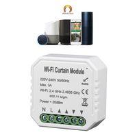 Módulo de interruptor de cortina inteligente WiFi, persiana enrollable, Motor, Control de aplicación remota, temporizador de Control de voz manos libres, familia