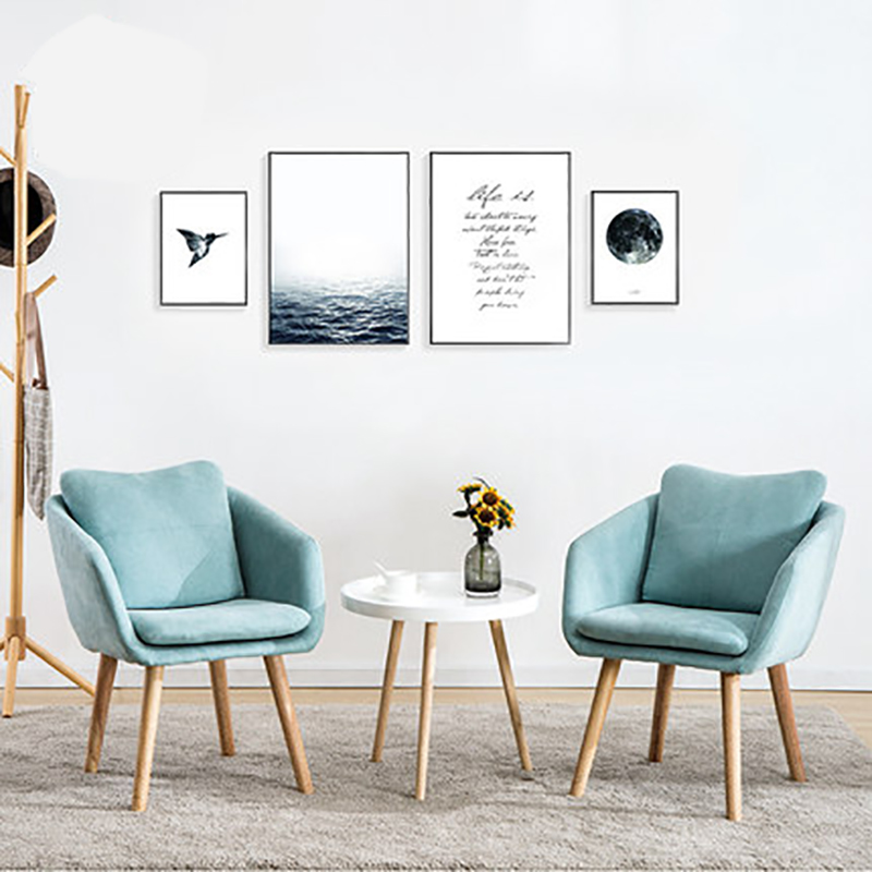 Simple And Modern Coffee Bedroom Chair Nordic Single Sofa Chair Study Computer Backrest Casual Lazy Chair