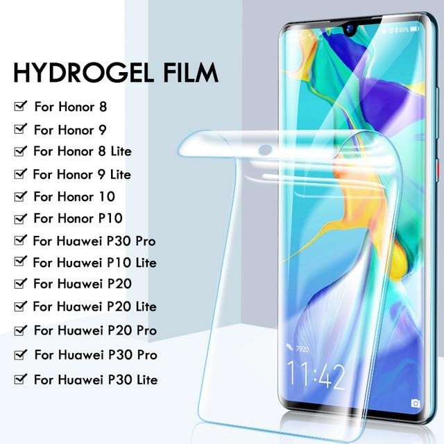 25D Hydrogel protector de pantalla de película para Huawei P30 Pro P20 Lite P10 Pro Lite película protectora para Honor 8 9 10 lite no cristal