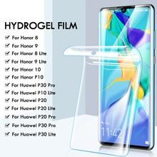 25D hidrojel ekran koruyucu film için Huawei P30 Pro P20 Lite P10 Pro Lite koruyucu film onur 8 9 10 lite değil cam