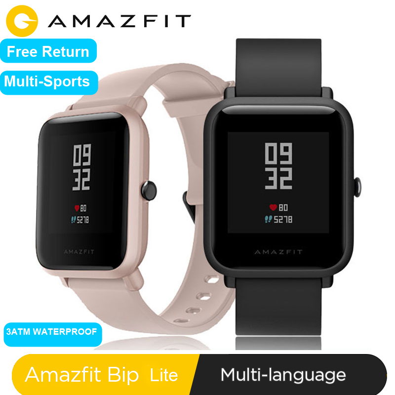 Global Version Huami <font><b>Amazfit</b></font> Bip <font><b>Lite</b></font> Smart Watch Lightweight smartwatch with 45 Days Standby 3ATM Waterproof image