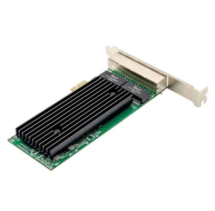 Pcie X1 1000m Lan 4-Port RJ45  Gigabit Ethernet PCI-Express X14  Server Adapter Network Card Intel82576 T4 Chipset