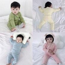 Зимнее детское термобелье, плотный хлопковый Детский Теплый костюм, одежда для маленьких мальчиков и девочек, подштанники, пижамы