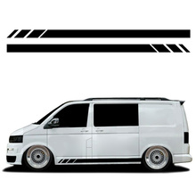 230*12CM Stickers Black Side Stripes Stickers Decals For Transporter T4 T5 T6 Campervan RV