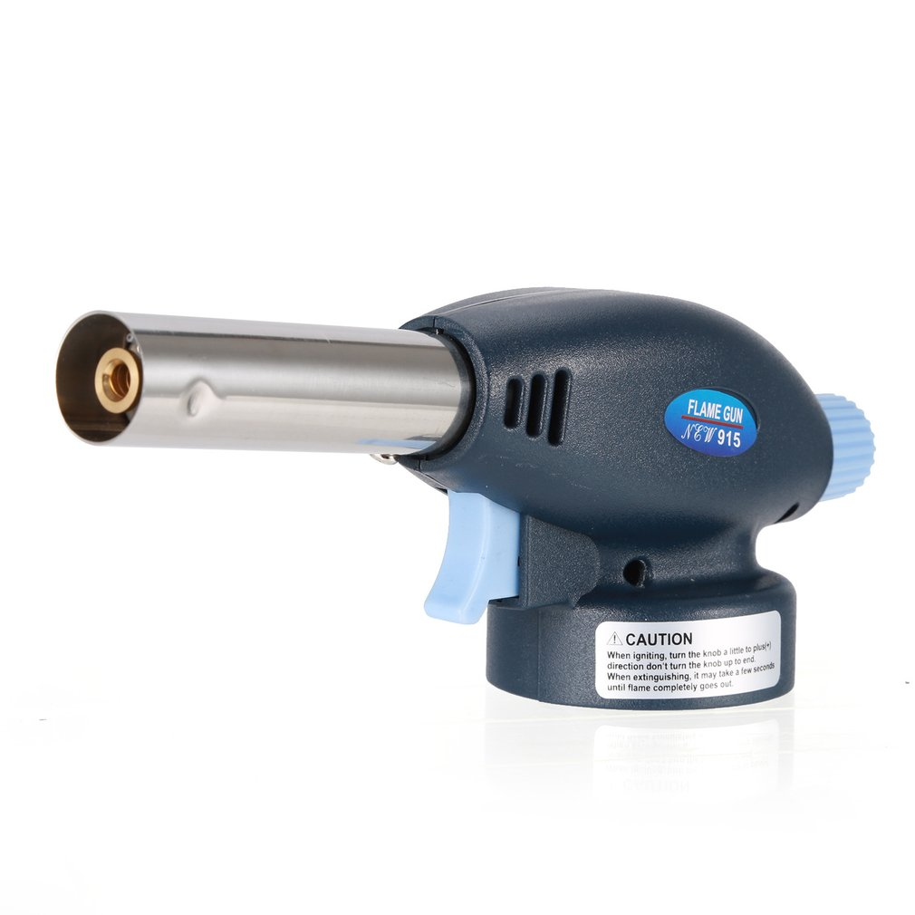 Gas Torch Butane Burner Auto Heating Ignition Flame Gun Camping BBQ Soldering Flamethrower Spray Burner Burning Upto 1300