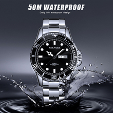 2019 Top Brand WAKNOER Luxury Men's Watch 50m Waterproof Date Clock Male Sports