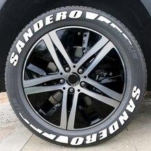 3D Gummi Reifen Brief Auto Aufkleber Für Dacia Sandero Stepway R4 Xplore Techroad Streetway Komfort Auto Zubehör Reifen Aufkleber Kit