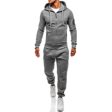 ZOGAA Men Track Suit Set Two Piece Tops and Pants Sets Casual Sportswear Tracksuit Sweatsuits for Outfits