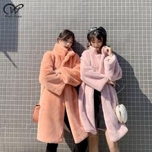 Mink Faux Fur Jacket Women Fake Fur Coat Long Overcoat Female Coat Winter Women's Winter Coats with Fur Rabbit Parkas Streetwear