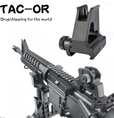 Sight para Rifle de Caça Tactical High Profile Frente Iron Sight Destacável Compacto Dual Aberturas Rear Airsoft Acessório a2