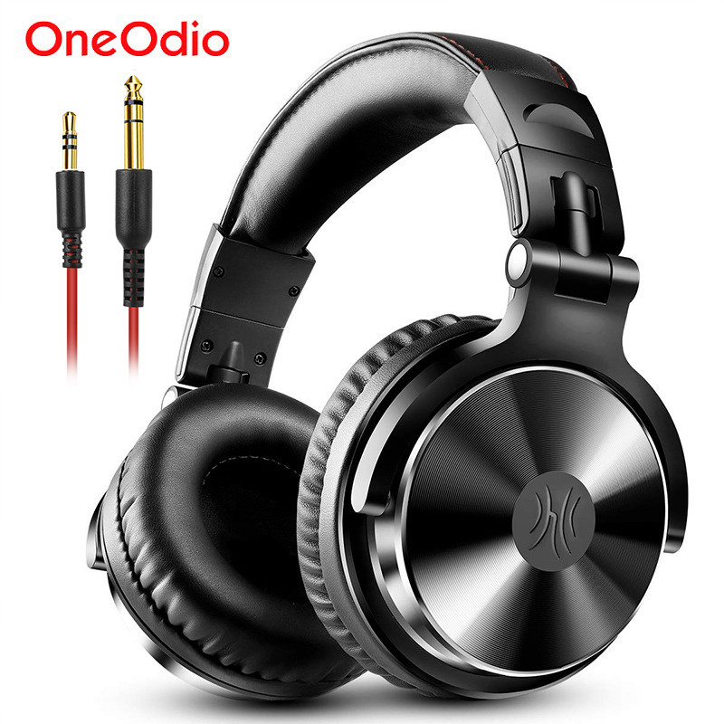 Oneodio Over Ear Headphones Hifi Studio DJ Headphone Wired Monitor Music Gaming Headset Earphone For Phone Computer PC With Mic image