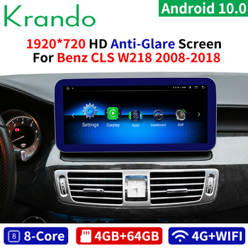 Krando Android 10.0 10.25''IPS 4+64GB Blue Ray Car Radio Player for Mercedes Benz CLS Class W218 2011-2018 NTG 4.0 4.5 5.0 image
