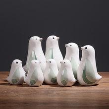 Modern home decora ceramiczne figurki ceramiczne ptak figurki kreatywne dekoracje ścienne