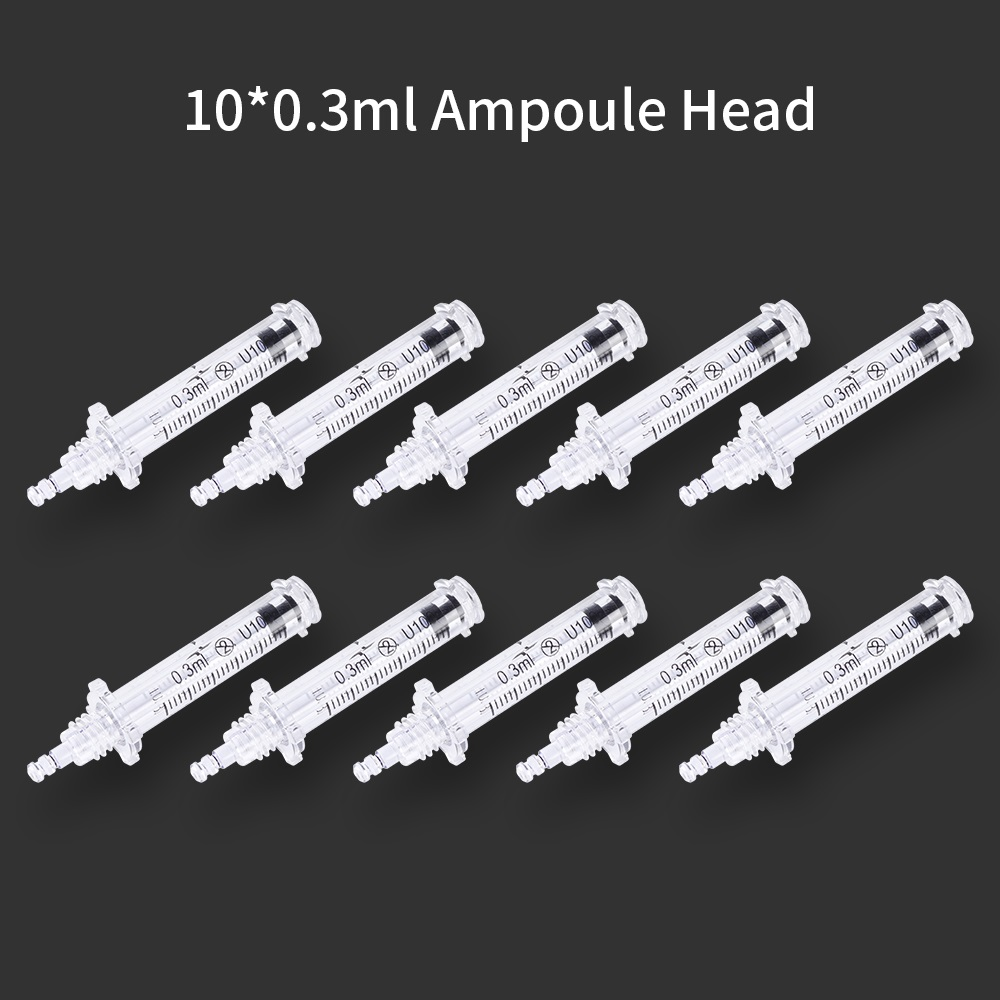 0.5ml/0.3ml Syringe Ampoule Head For Lip Filler Injection Hyaluron Pen Hyaluronic Acid Pen Disposable Anti-aging Wrinkle Removal