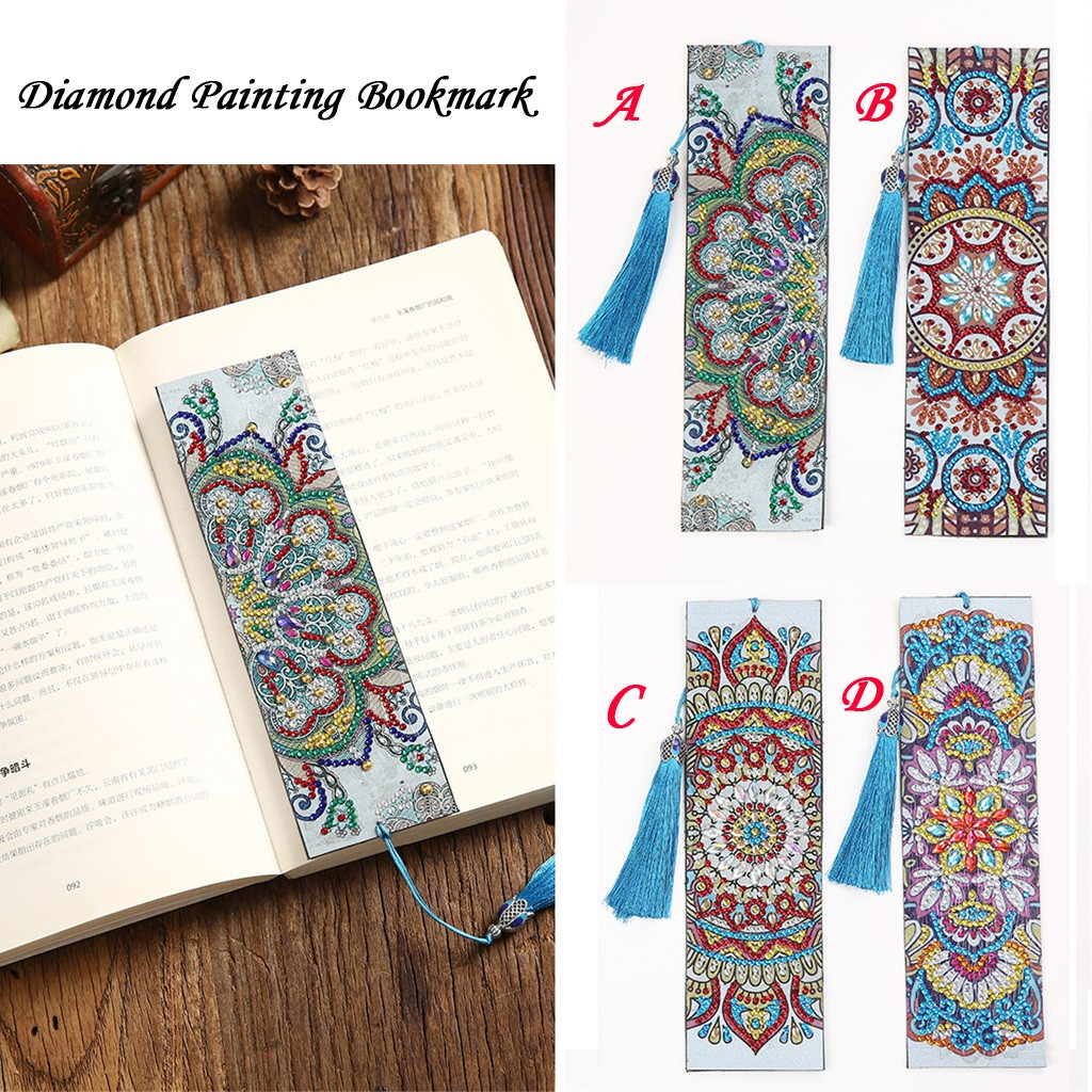 Bookmark Office-Stationery Diamond-Painting with Tassel Garden Creative Gift DIY Special-Shaped title=