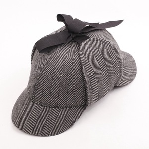 Image 3 - SHOWERSMILE Sherlock Holmes Hat Unisex Winter Wool Berets For Men Deerstalker Tweed Cap Accessories British Detective Hat Women