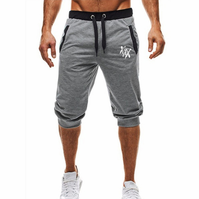 2019 Men's Breeches Sports Casual Tight Harem Soft 3/4 Fashion New Brand Men's Sweatpants Summer Comfort Short Masc