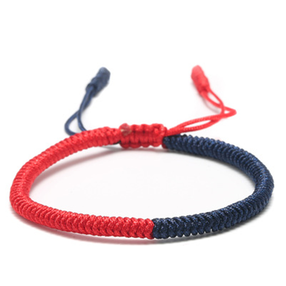 1pc Tibetan Buddhism Hand Weave Knots Lucky Bracelet For Womenchakra Rope Bracelets