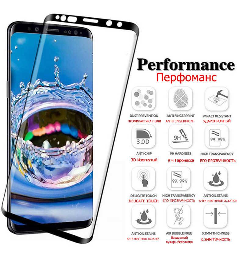 9000D pełne zakrzywione szkło hartowane do Samsung Galaxy S8 S9 Plus uwaga 9 8 folia ochronna do Samsung S6 S7 krawędzi folia ochronna