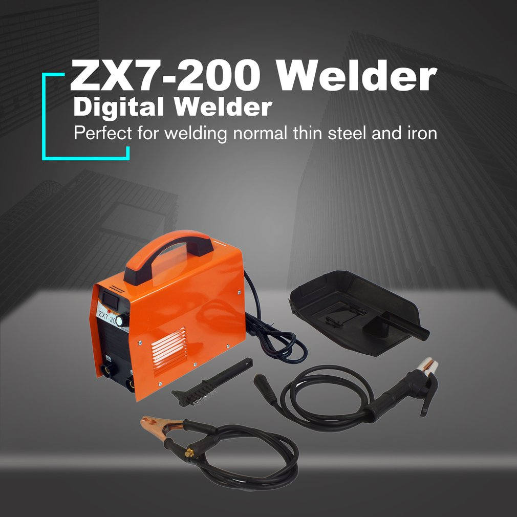 ZX7-<font><b>200</b></font> Digital Display DC Inverter <font><b>ARC</b></font> Welder 220V IGBT PWM Portable Welding Machine 20-120A For home DIY Repairing EU Plug image