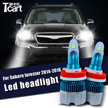 Tcart 2pcs 60W Car LED Headlight For Subaru Forester 2014 2015 2016 accessories 9005 HB3 H11 Low light High light 6400LM image