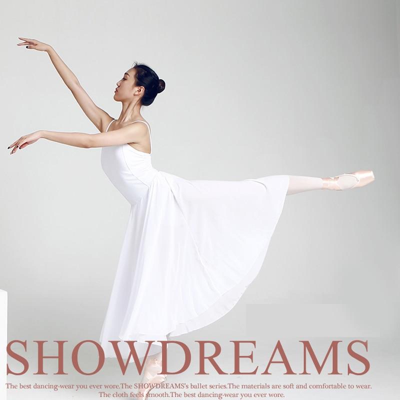Nouveau danse contemporaine Ballet robe fronde justaucorps femme lait soie danse vêtements adulte lyrique moderne danse pratique Costumes