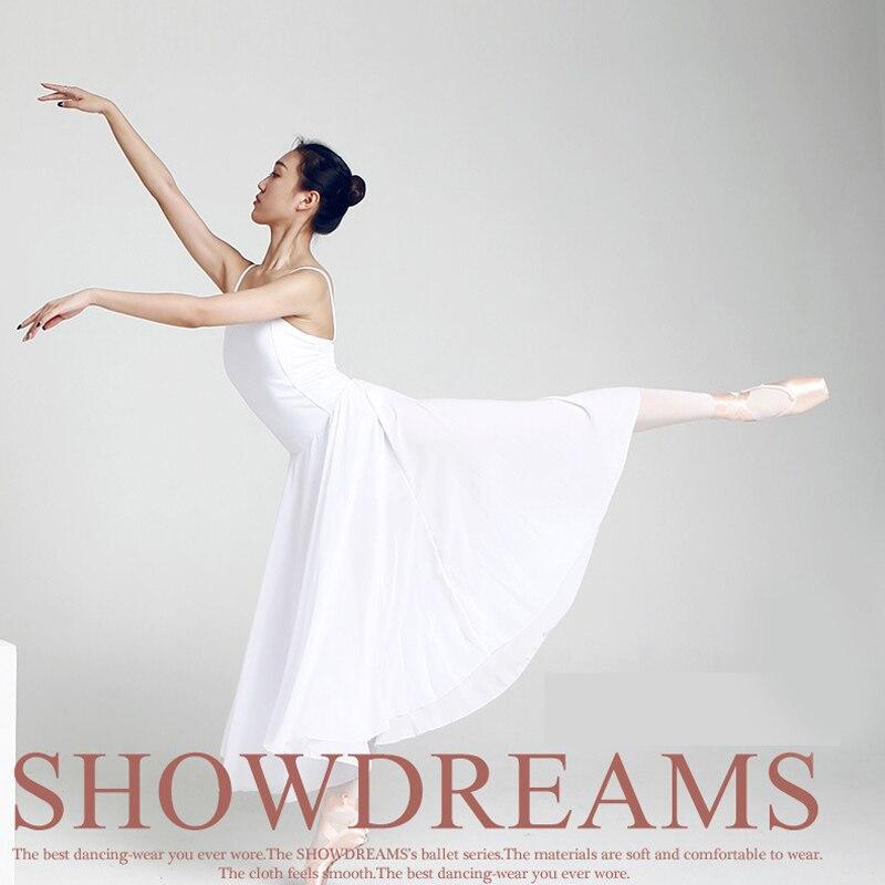 Nouvelle danse contemporaine Ballet robe fronde justaucorps femme lait soie danse vêtements adulte lyrique moderne danse pratique Costumes