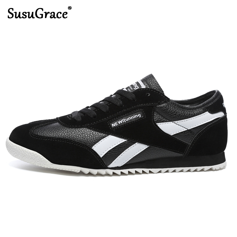 SusuGrace Men Running Shoes Women Sneakers Comfortable Sport Shoes Lovers Trend Light Weight Jogging Shoes Outdoor Unisex Black