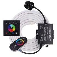 Tira de luces LED para exteriores, cinta de 5050 luces LED RGB con mando a distancia para iluminación del hogar, barra de cocina