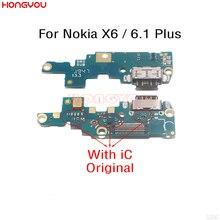 Original USB Charge Dock Board Charging Socket Jack Plug Port Connector Flex Cable For Nokia X6 2018/ 6.1 Plus TA 1083/1099/1103|Mobile Phone Flex Cables|   - AliExpress