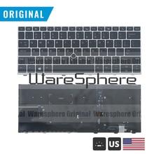 Mới Chính Hãng Mỹ W/N Đèn Nền Bàn Phím Dành Cho Laptop HP Elitebook 830 735 G5 Với Chuột Điểm Hoa Kỳ Tiếng Anh Bố Trí
