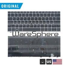 Nowy oryginalny US W/N podświetlana klawiatura do HP Elitebook 830 735 G5 z myszką punkt US angielski układ