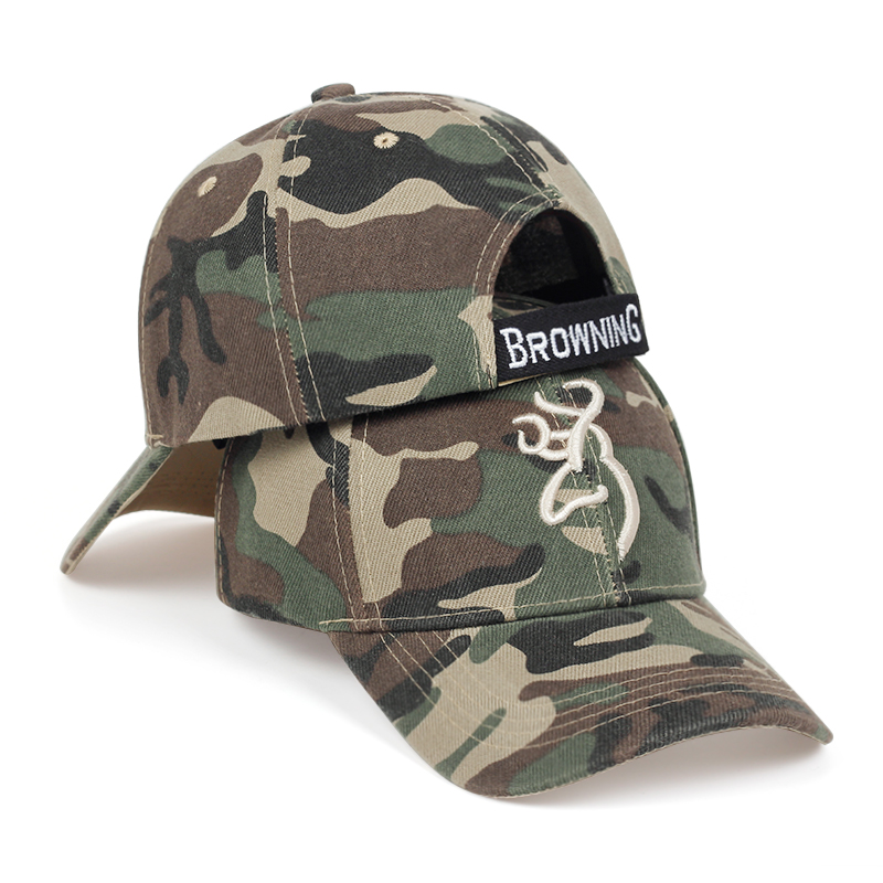 2020 New 3D Embroidered Baseball Cap Fashion Adjustable Camouflage Hat Outdoor Jungle Tactical Hats Men's Trendy Wild Caps