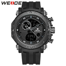 WEIDE 2019 Hot Sale Brand Luxury Men Clock Saat Sport Silicone Strap Military Analog