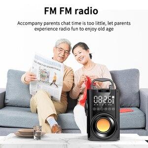 Image 5 - Sans fil Bluetooth haut parleur 2200mAh grande puissance Subwoofer Portable lourd basse stéréo haut parleurs lecteur de musique LCD affichage FM Radio TF