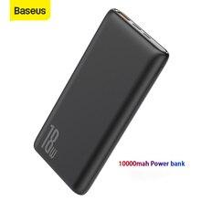 Baseus 10000mAh כוח בנק 18W מהיר מטען QC PD3.0 מהיר טעינת נסיעות חיצוני סוללה Powerbank נייד מטען עבור טלפון