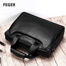 Men bag Men's genuine leather bag male shoulder bag men laptop Business