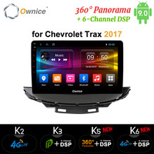 Ownice 2din octa 8 núcleo android 9.0 áudio do carro dvd player k3 k5 k6 para chevrolet trax 2017 dab + dvr 360 panorama dsp 4g lte spdif(China)