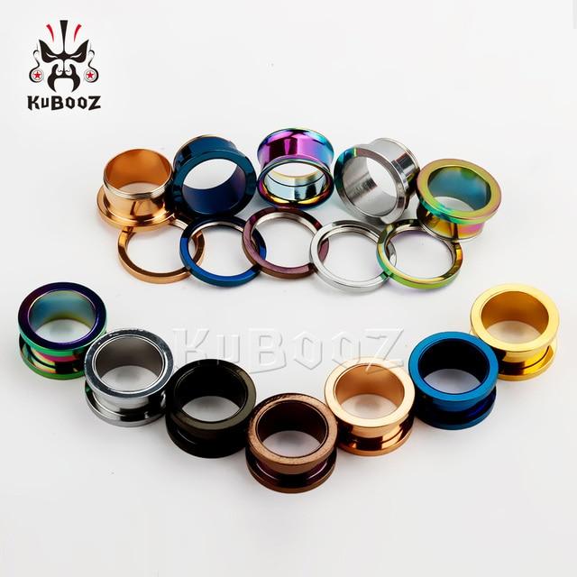 Купить kubooz популярные пирсинг уха из нержавеющей стали туннели кольцо