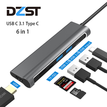 DZLST USB HUB Type C to USB 3.0 HDMI Card Reader PD Charging for MacBook Samsung Galaxy S9/S8 Huawei P20 Pro Thunderbolt 3 Hub цена и фото