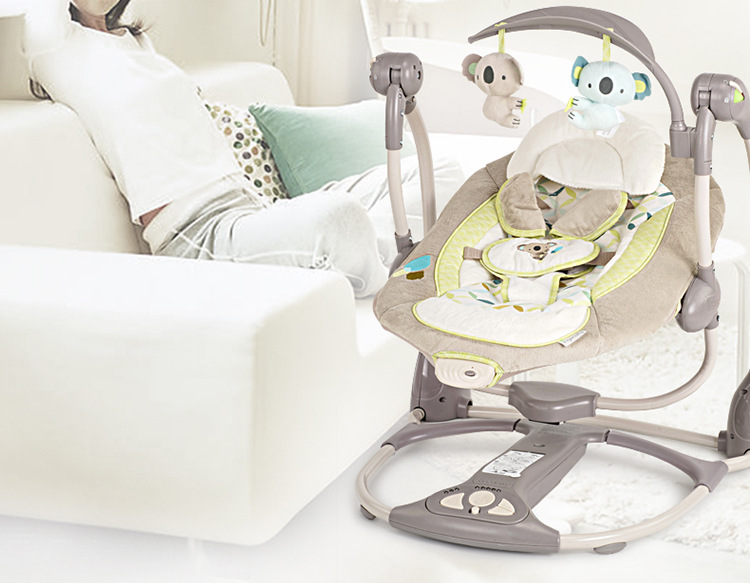H8e77432aa9fe4c34949a754d6649e492l Newborn Gift Multi-function Music Electric Swing Chair Infant Baby Rocking Chair Comfort Cradle Folding Baby Rocker Swing 0-3Y