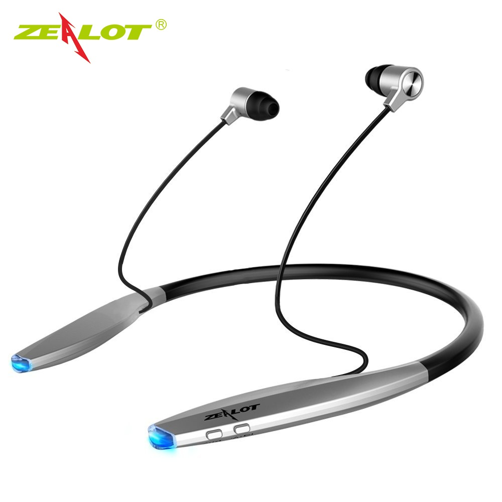 Image 1 - ZEALOT H7 Bluetooth Headphones with Magnet Waterproof Wireless Earphone Neckband Sport Earbuds with Mic For iPhone Android-in Phone Earphones & Headphones from Consumer Electronics