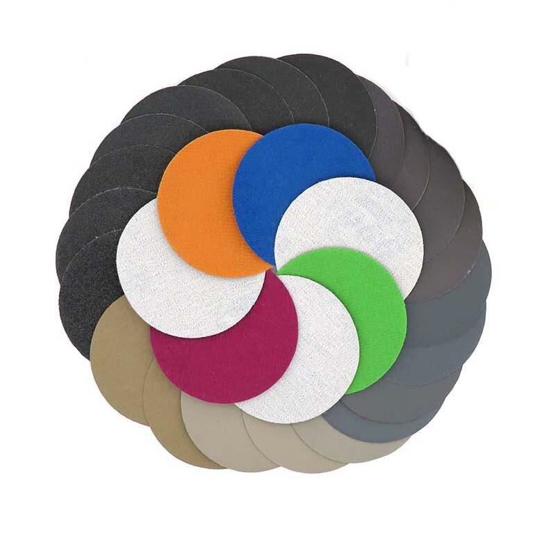 Dry Water Sanding Disc Hook Loop Round Sandpaper Sand Sheet 30pcs 75mm/3 Inch 1000-7000 Grit Sander Paper