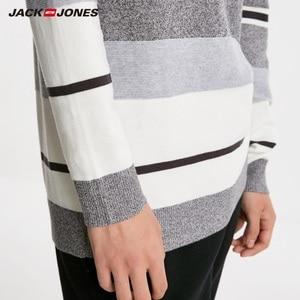 Image 4 - JackJones Mens Contrast Striped 100% Cotton Sweater Pullover Top Menswear New Brand 218424501
