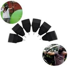 10 pçs esponja seta espuma preto cabeça de seta para tiro com arco e flecha combate tagging jogo de tiro mais recente
