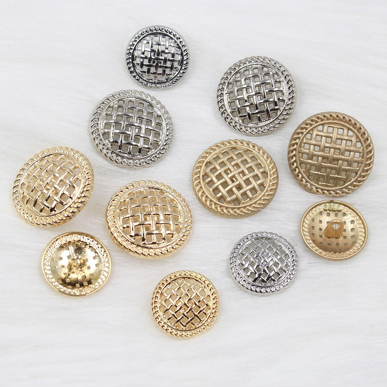 Hollow Crown Reseau Metal Buttons 22mm/18mm Sweater Coat Decoration Buttons Accessories DIY 10Pcs/Lot JS-0501