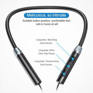 Image 4 - ROCK Sport Magnetic Bluetooth V5.0 Earphone Wireless Earphones Magnet Earbuds With Microphone Stereo Auriculares Neckband
