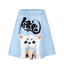 Гинтама Горячая японская версия короткие юбки девушка плиссированные юбки по колено 3D Аниме униформа косплей студента Jk Academy Женщины Высокая талия